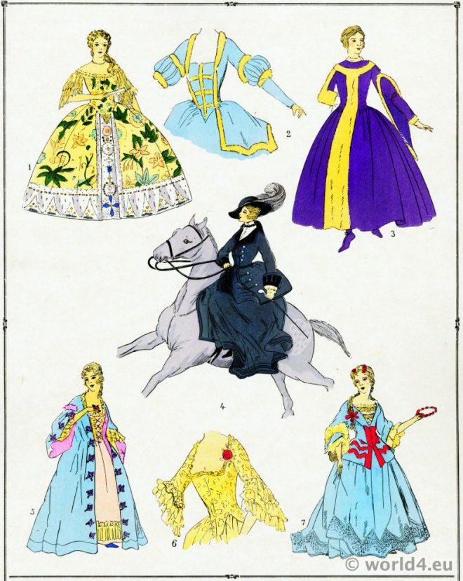 Élégantes, Mode, Rococo, Louis XV,