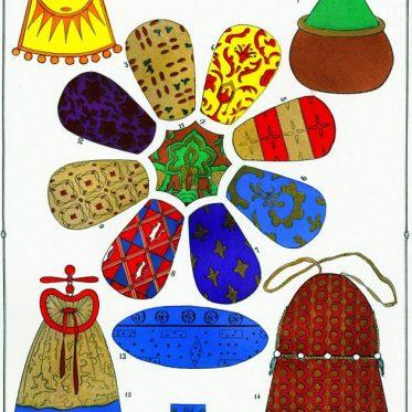 Aumônière, Bannière, Cramoisi, Escarcelle, modes, Moyen Age