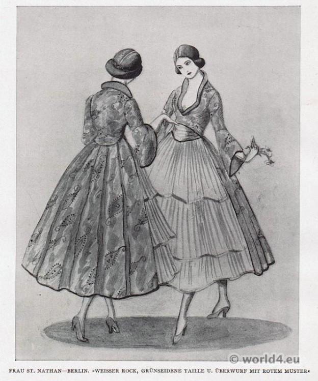 Berlin fashion 1917. Designer Nathan fashion 1910s. German Modernist costumes.
