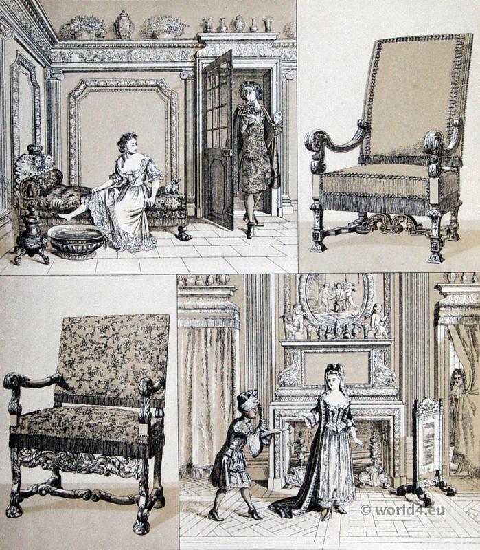 Interior, Louis XIV, fashion, history, baroque, 17th, century, Versailles,