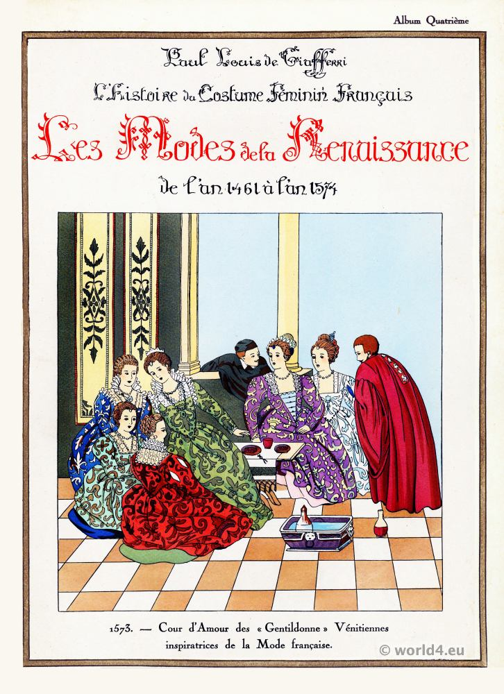 Cour, d'Amour, Gentildonne, Vénitiennes, Mode, française,