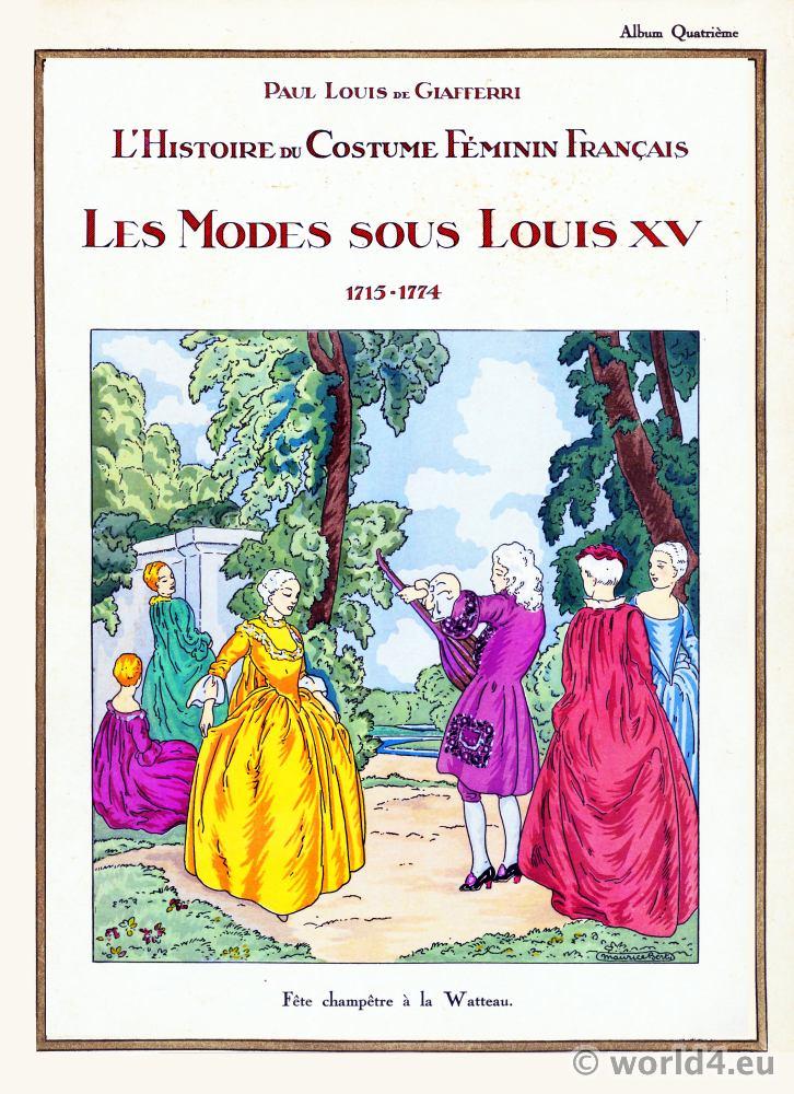 Louis XV, Rococo,fashion, history