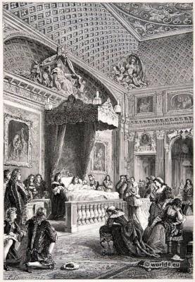 Louis XIV, deathbed