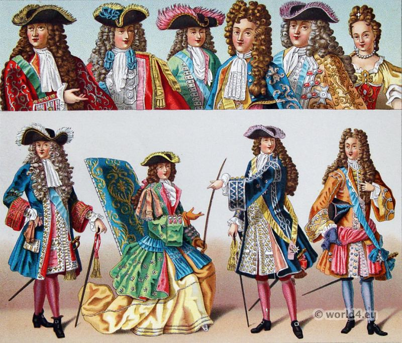 Baroque, Nobility, French, costume, fashion history, historical, dress, 17th century, Louis XIV