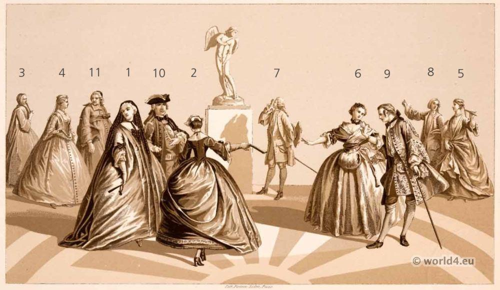 Louis XV, fashion, rococo, Justaucorps, Watteau,