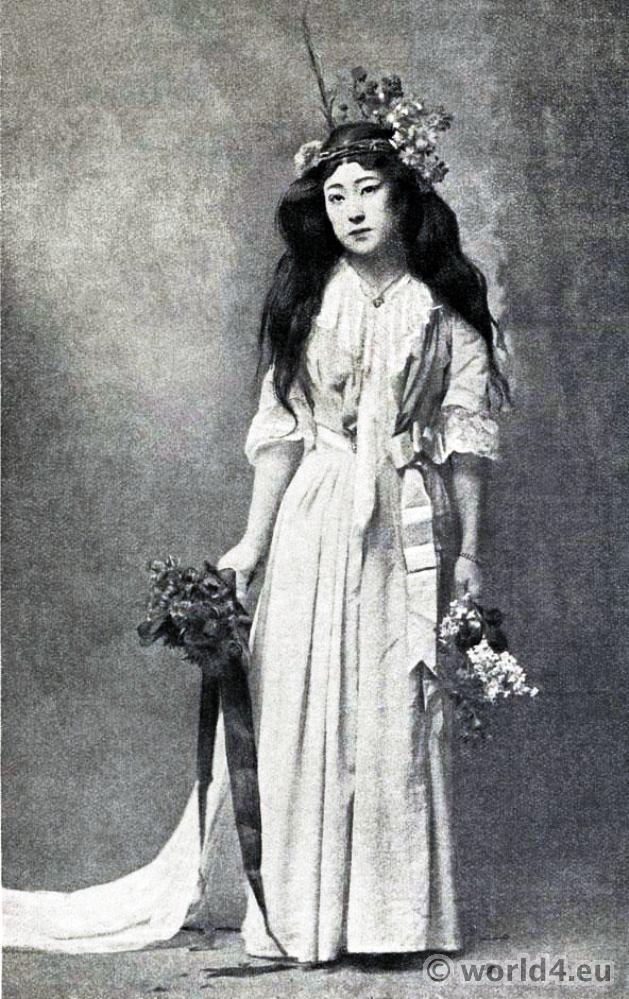 Sada Yacco, Japanese, Actress, Oriye, Japan, Geisha,