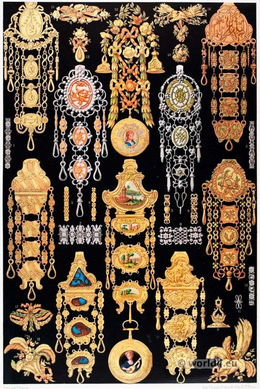 Jewelry, 18th century, Versailles, Louis XV,  Rococo, fashion