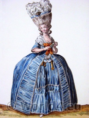 fashion history, Pouf, Rococo, Hoop, Modes deParis