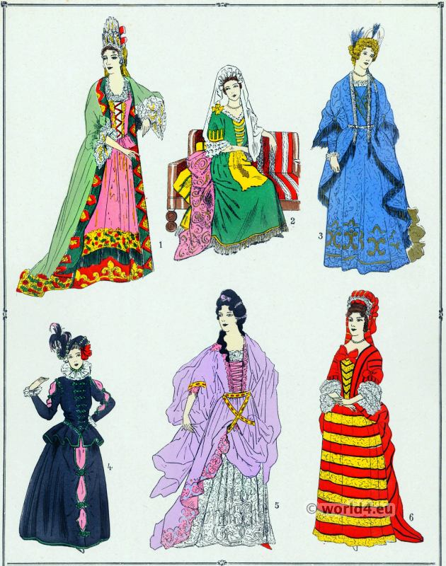 robes, Louis XIV, fashion, baroque, costume,