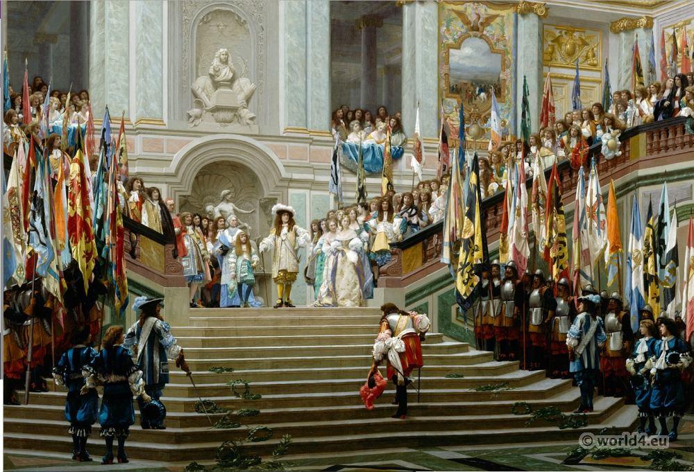 Réception, Condé à Versailles, Louis XIV, 17th, century, baroque,
