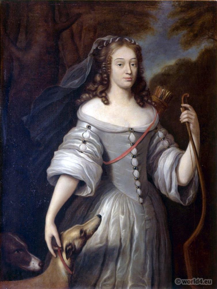 Portrait, Duchess, Francoise Louise,  Baume, Blanc
