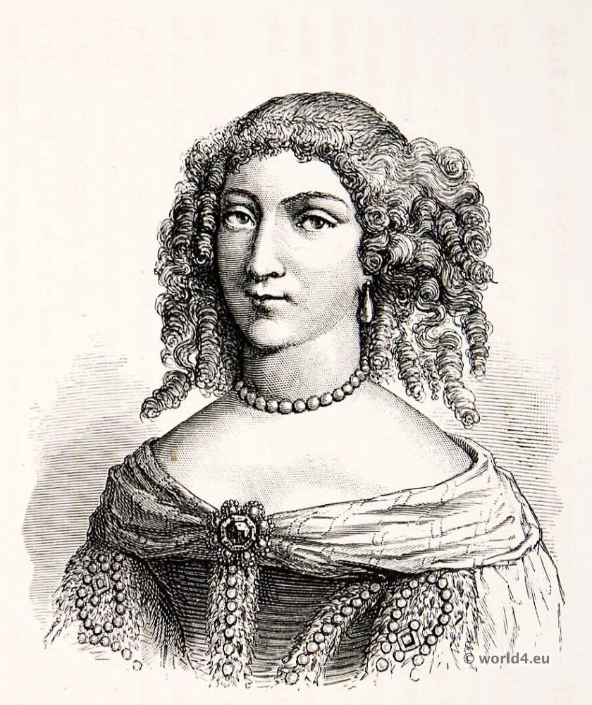 Louise de La Vallière, mistress, Curls,