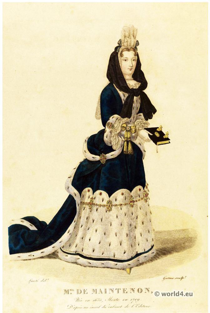 marquise, Maintenon, Françoise, d'Aubigné, morganatic, marriage, Louis XIV
