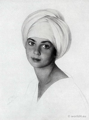 Portrait by Savely Sorin. Margaret Dorothy Kahn. The Ryan Collection. American art collector and patron
