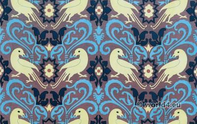 textil, design, Fabric, Flemish, School, middle ages,