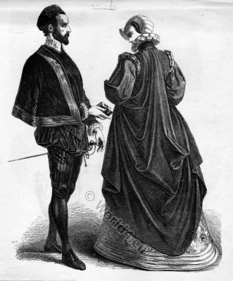 Renaissance, costumes, 16th, century, fashion, history