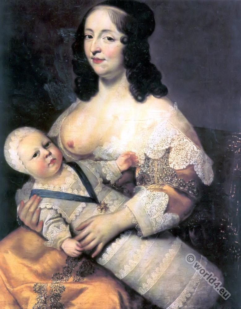 Longuet de la Giraudiére. Nurse of Louis XIV. 17th century history