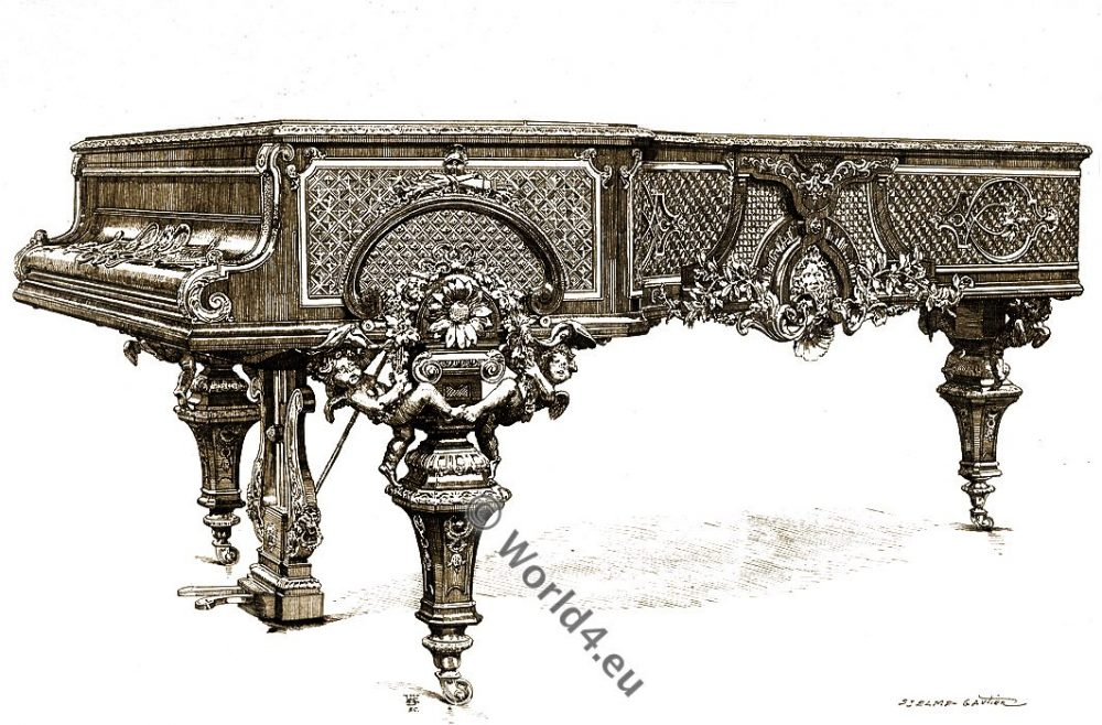 Concert Piano, Érard, style, Louis XIV