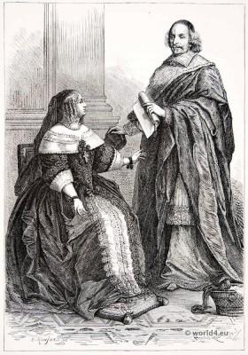 Queen, Anne of Austria, Cardinal, Mazarin, 17th century,