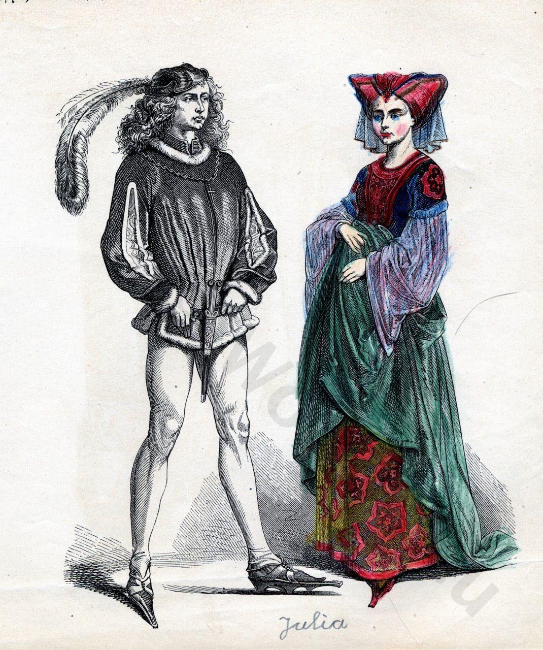 costumes, 15th, century, Medieval, Burgundy