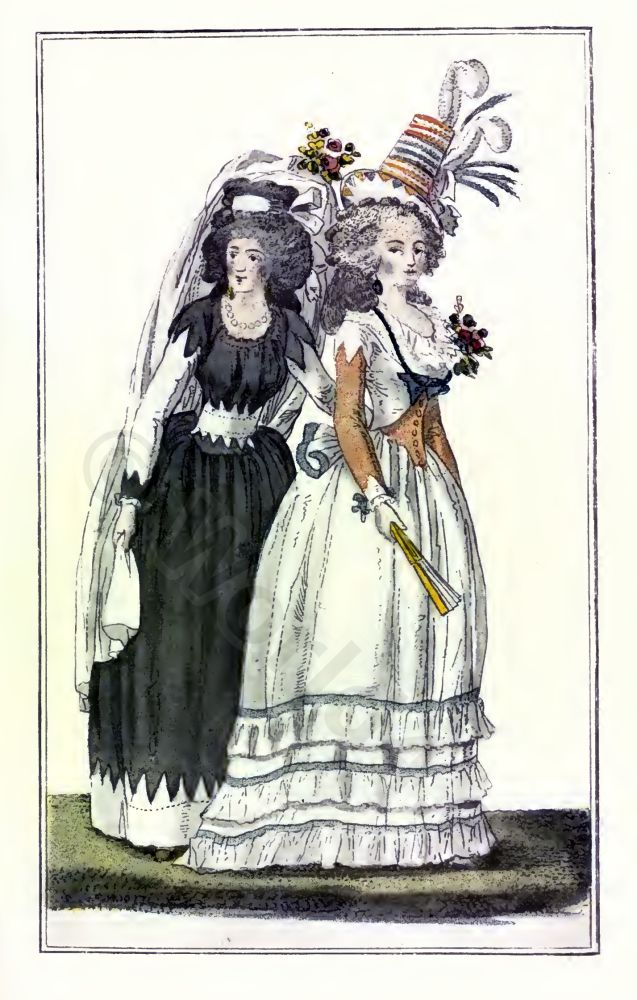 Mode parisienne. French Revolution costumes. Directory fashion.