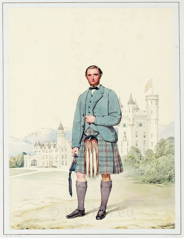 Archibald Anderson Brown. The Highlanders of Scotland. Traditional Scottish National Costume.