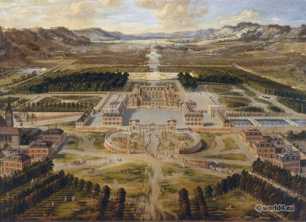 Château de Versailles, Pierre Patel, 17th century, baroque, architecture,