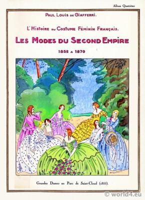 Grandes Dames, Modes, Second Empire, Saint-Cloud