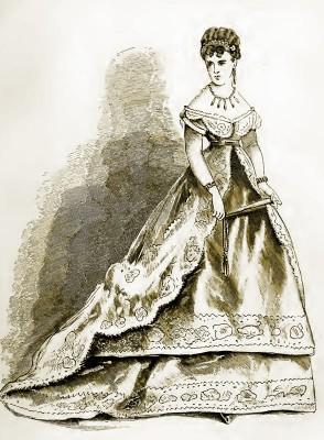 Victorian Crinoline Costume. The Corset and the Crinoline fashion. Farthingale.
