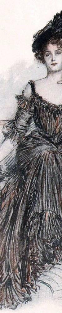 Belle Époque, American Beauty, Albert Sterner, fashion, costume