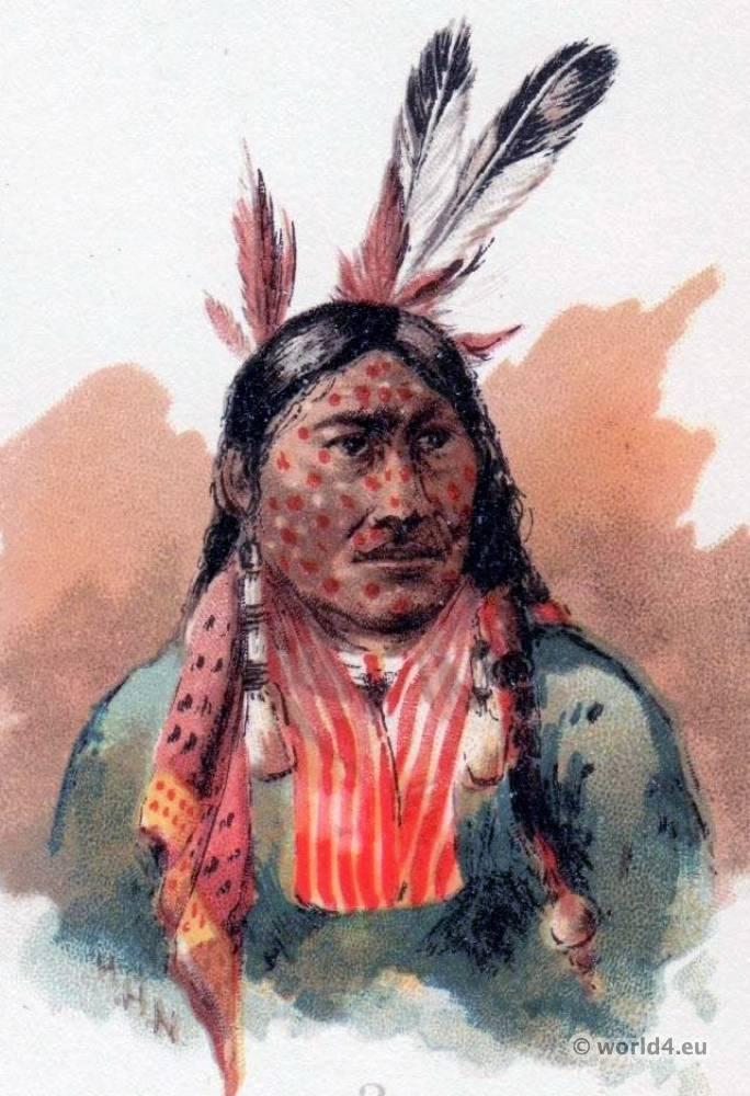 Ojibwa, Midē, Wiwin, Grand, Medicine, Society, facial, decoration, Shamans,