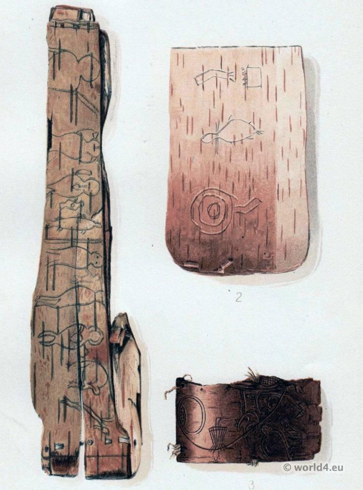 Ojibwa, Midewiwin, Grand, Medicine, Society, sacred, birch, bark, Mide, Shamans,