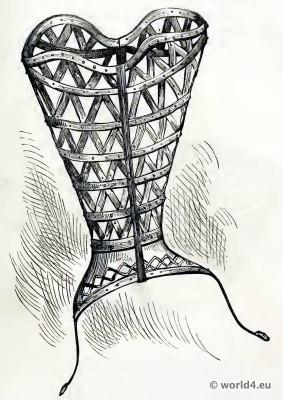 Corset of Steel. 16th century underwear. Medieval Bodice. Renaissance fashion.