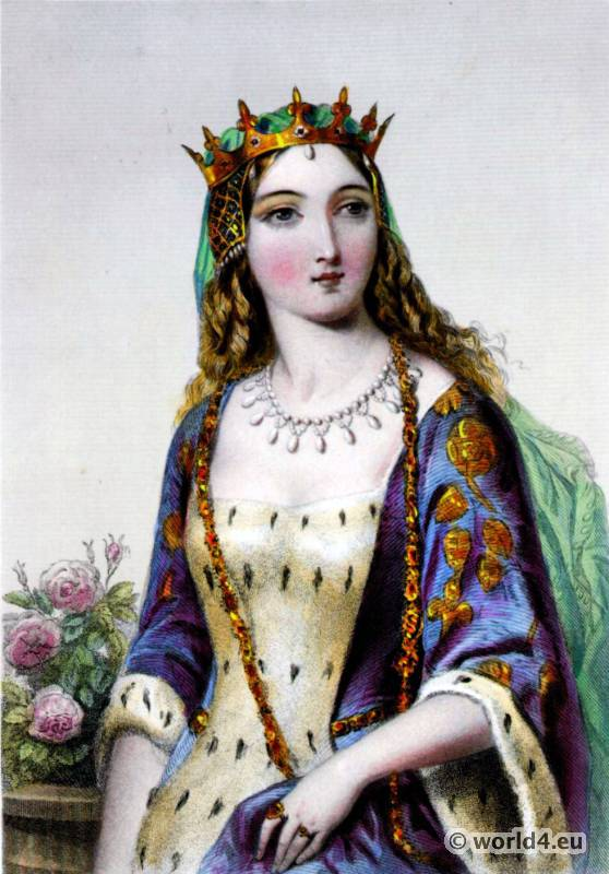 Margaret, Anjou, Queen consort, England, Middle ages, clothing,