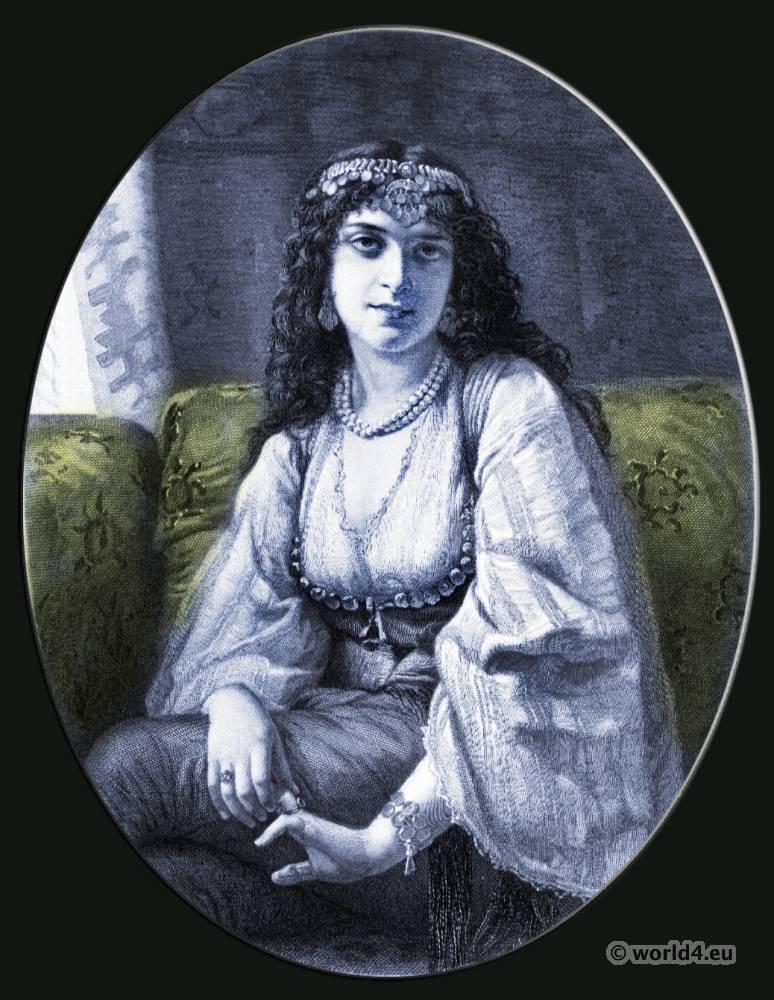 Syren, Gypsy, girl, Arabia, clothing, Traditiona,l Jewish, dress