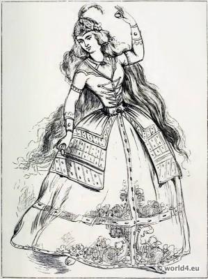 Ancient, Persia, costume, Dancing, girl,
