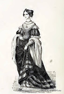 court dress, Renaissance, fashion,  clothing