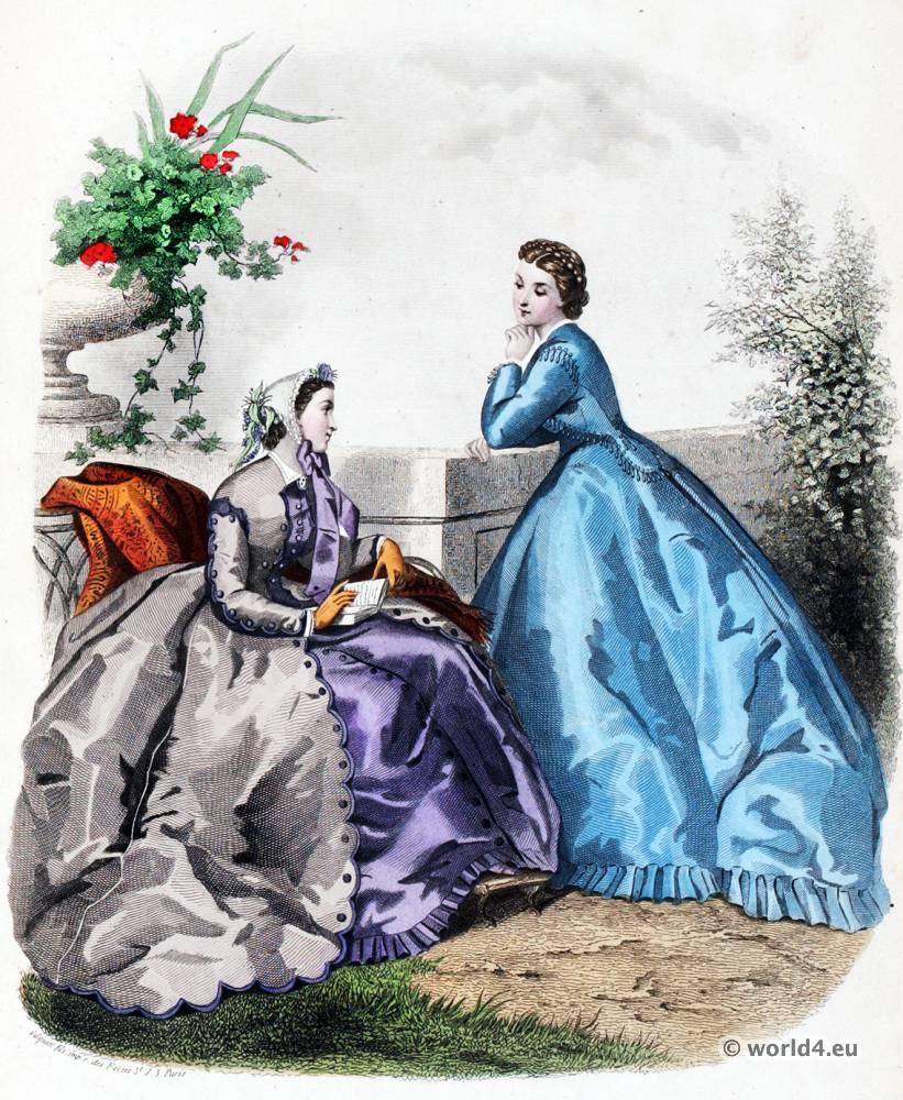 Mode Illustrée, Corset, Crinoline, Victorian, Fashion,
