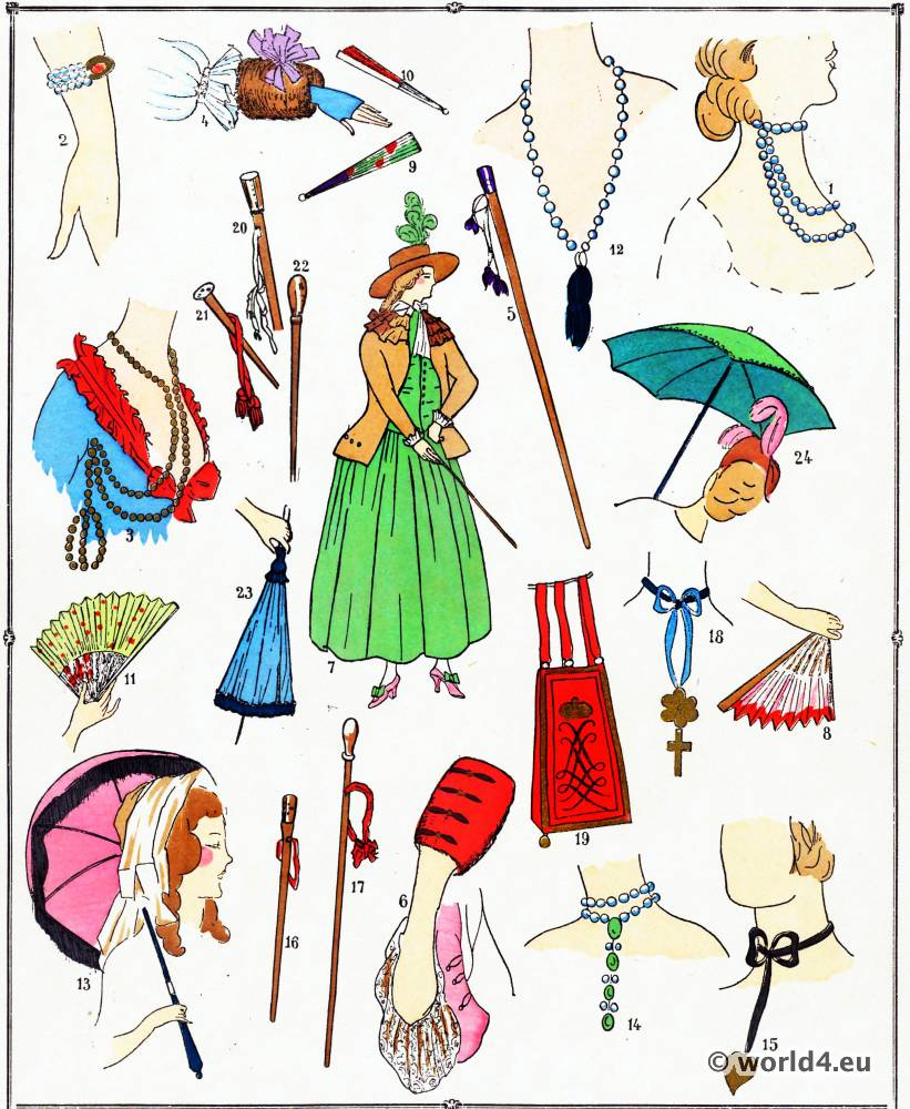 Parures, modes, costume, façon, Louis XVI, Rococo,