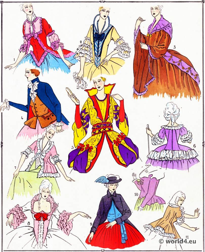 Corsages, modes, costume, façon, Louis XVI, Rococo,