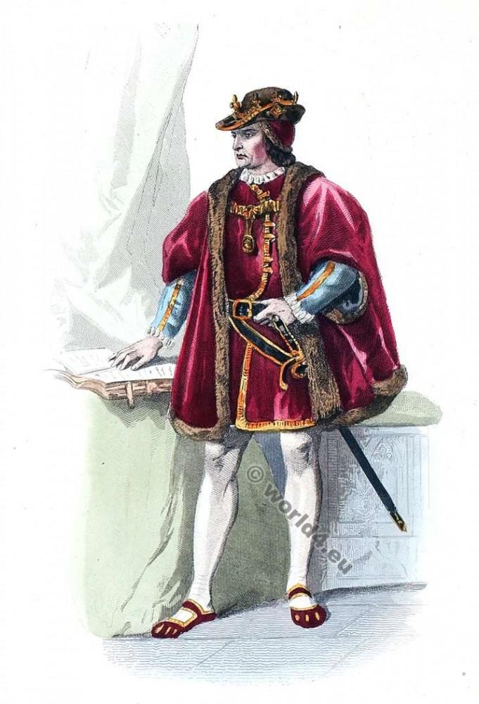 Moyen Age, Duc, Mode, costume, Cour, Louis XI