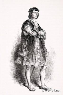 Charles, VII, l'Affable, Courtois, Renaissance, fashion,