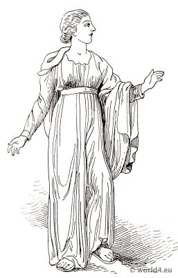 Ancient Greece Costume with zone, cincture girdle.