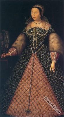 Catherine de' Medici, Renaissance, Costume