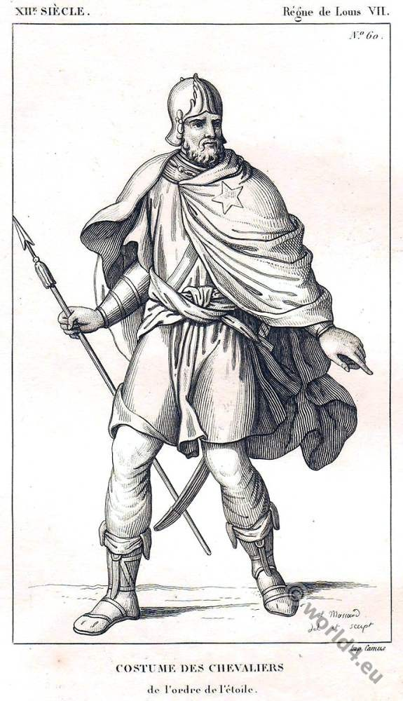 """Costume, Chevalier, l'Ordre, L""""Etoile, Middle ages, knight,"""