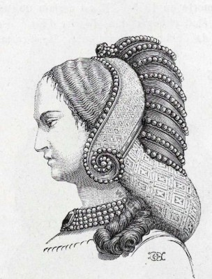 headdress, crespinette, cauls, middle ages, fashion
