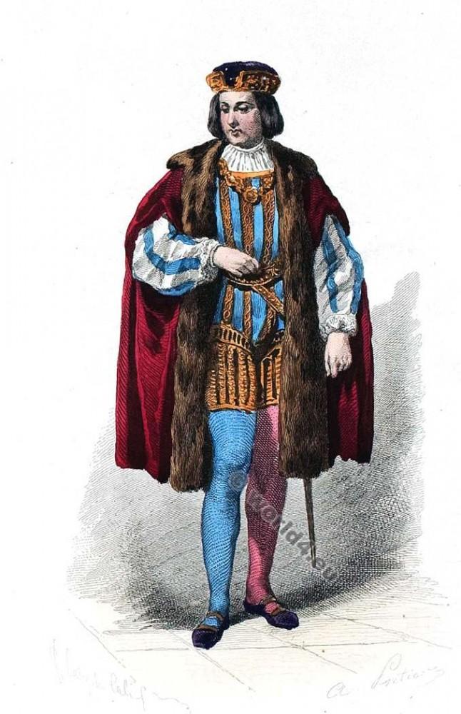 Moyen Age, Comte, Mode, costume, Cour, Louis XI