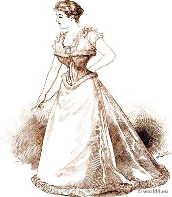 Corset, Crinoline, Victorian, Fashion, Farthingale, bodice, underwear