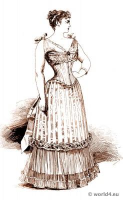 Corset, Crinoline, Victorian, Fashion, Farthingale, bodice, underwear, Belle Époque