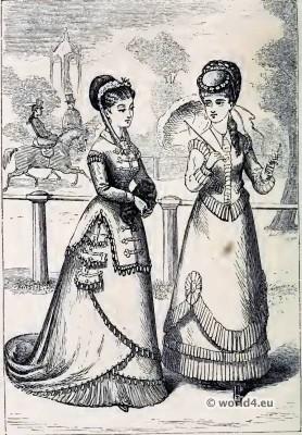 The Fashion of 1808. Empire costumes. Corset and Crinoline. Nineteenth-century Costume and Fashion